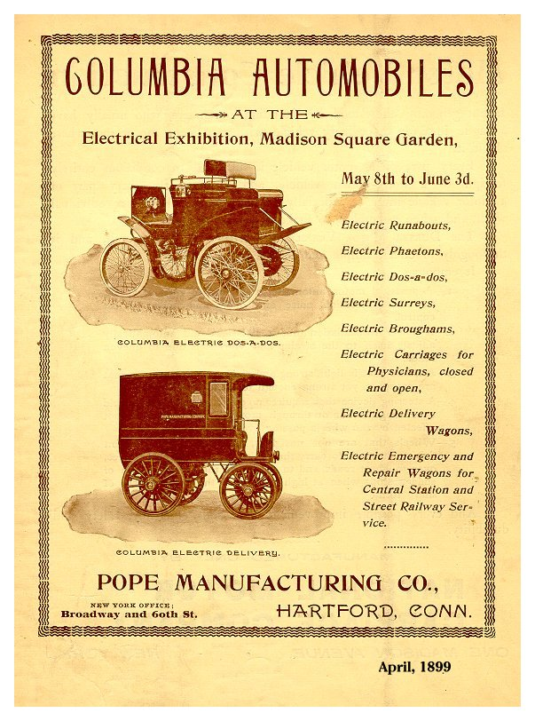 Columbia The Next Items Show More Of Electric Runabout From Several Diffe Years First 1898 Model Which Was Depicted On A U S Postage Stamp