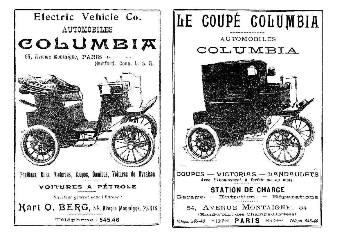 Columbia cars in Paris,